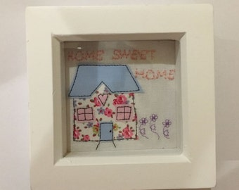 Handmade new home gift frame. Can be personalised. Perfect for housewarming gift.