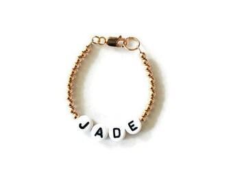 Handmade Baby Bracelet, Name Bracelet, Beaded Letter Bracelet, Baby Bracelet, Personalized Name Jewelry, Baby, Custom Name Gifts