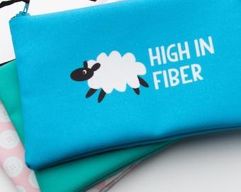 Zipper Bag, Fiber Art Geek, High in Fiber