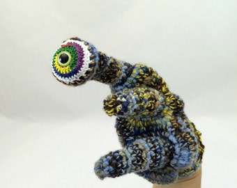 SALE - Eyeball Monster Hand Puppet, Pretend Play Doll