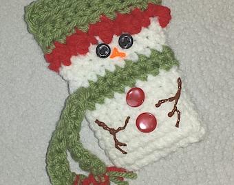 Snowman Gift Card Holders, Crochet Pattern for 2 designs