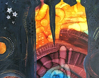 ORIGINAL painting -  Sentinels