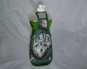 Wolf Wolves Forest Kitchen Decor Dish Soap Apron Bottle Cover Wrap Staffer Party Favor Lg
