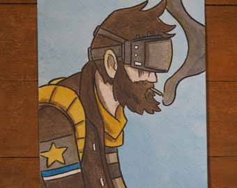 Sheriff - original mini painting by Justin Madson