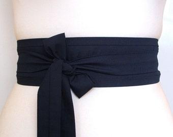 Dark Navy Indigo blue Obi kimono belt  ... obi belt, Japanese belt, Kimono sash, asian style