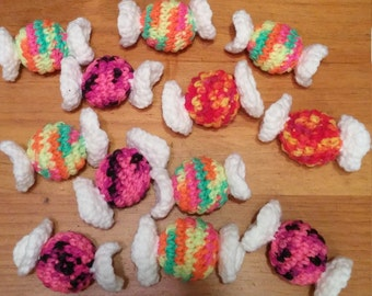 Super Awesome Crochet Candy Catnip Toy - For your Cat