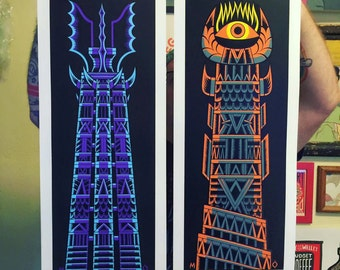 The Two Towers diptych poster set
