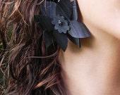 Jewelry gifts, earrings, flower, fashion gifts, stocking stuffer, for her, statement earrings, large earrings, #221