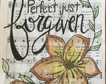 Not Perfect just Forgiven -hymn art