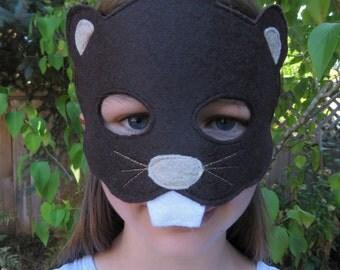 Beaver Mask - Woodchuck Mask - Woodland Animal Costume - Groundhog - Rodent - Beaver Costume