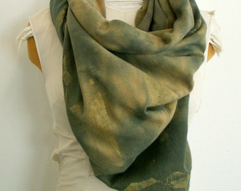 Desert Shadows with Printed Gold Flecks 58 inches x 58 inches Scarf 1