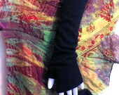 two-ply ~ cashmere fingerless gloves in midnight navy blue ~ arm warmers boho chic mori girl texting gloves boho mittens