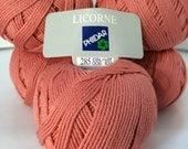 Cotton Sport weight yarn by Phildar - Licorne yarn 5 skeins
