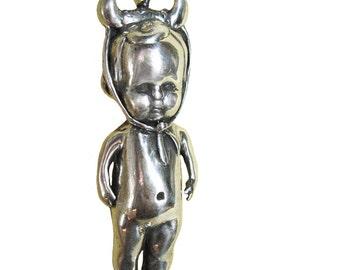 Taurus  Necklace Zodiac           bull baby  silver gold jewelry statement
