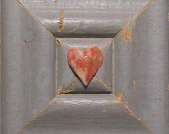 Heart Art - Be Still, My Heart - Original Mixed Media Assemblage - Architectural Salvage Wood Collage - Heart Wall Art - Wedding Art