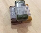 ENCAUSTIC WAX PAINT 3 pack - Raw Sienna, Mars Yellow Light, Green Gold