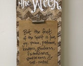 Chevron Verse of the Week Clip Holder Frame - barn wood  - for Verse Of The Week Cards, photos, or notes