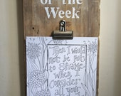 Verse of the Week Coloring Poster Pages - Verse - Dinnertime - Kitchen table - prayer