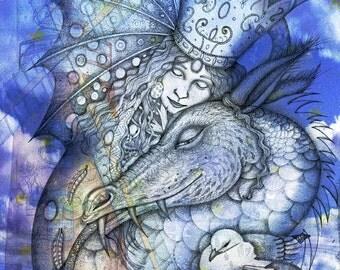 St. Margaret's Dragon. Giclee print