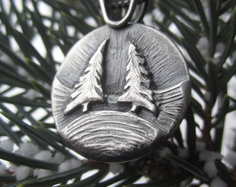 Handmade Sterling Silver Pendant - Knotty Pines