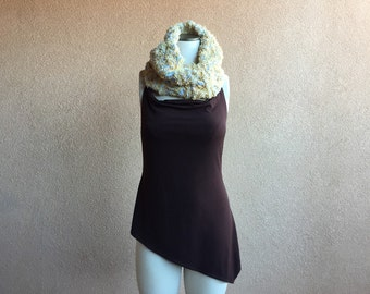 Spring Girlfriend Gift for Her Infinity Scarf, Chunky Circle Scarf Winter Gift for Women