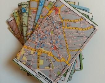 Slim Wallet- Vintage Map of Europe- choose 1