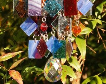 Autumn Sunset - Unique Wind Chimes - Suncatcher - OOAK Gift For Her, Anniversary, Birthday, Wedding, Housewarming Gift
