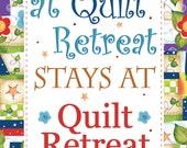 "6"" x 12"" Quilt Retreat Art Panel"