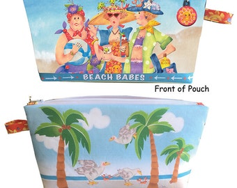 Quick - Preprinted BEACH BABES Zippered Pouch Kit