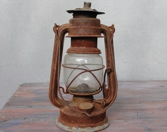 Feuerhand Hurricane Lantern, Kerosene lamp,  Feuerhand Nr. 275 Vintage Lighting, Oil Lamp 1954 - 1960