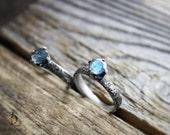 Grayson No2// Labradorite // Prong set Sterling Silver Stacking Ring, Boho made to order in your size, Gemstone Bellalili