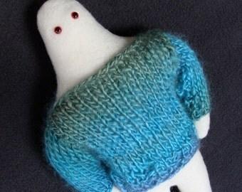 Sweater Yeti abominable snowman plushie mythical creature cryptozoology aqua ice softie stuffed animal monster