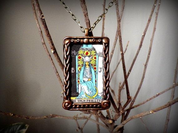 The High Priestess Tarot Necklace Metaphysical Jewelry Tarot
