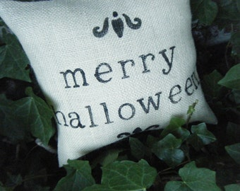 Elegant Halloween Collection Merry Halloween Pillow