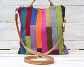 Colorful Patchwork Fold Over Bag Reserved for Lynn