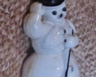 Vintage 1940s Snowman Ornament