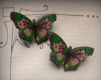 Lightweight  Wooden Butterfly Earrings