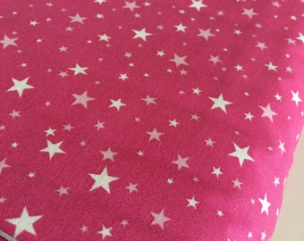 SALE fabric, Japanese fabric, Sevenberry fabric, Petite Classics, Great for Mini Quilts, Mini Stars in Hot Pink , Choose your cut