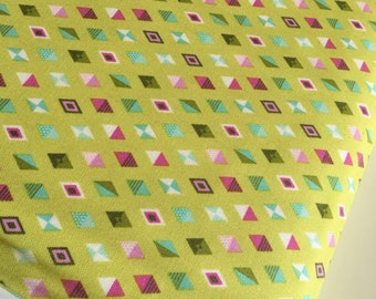 Tula Pink fabric, Slow and Steady Collection, Tortoise and Hare,  Woodland nursery, Track Flags in Strawberry Kiwi- Choose the Cut
