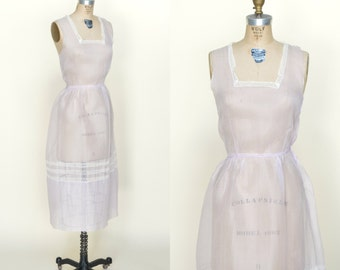 1920s Lavender Pinafore --- Vintage Day Dress