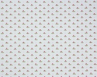 1950s Vintage Wallpaper by the Yard - Tiny Rosebuds on White