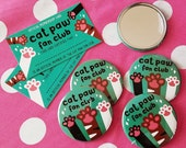 Cat Paw Fan Club Pocket Mirror - With Membership Card