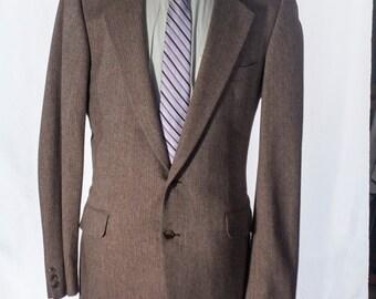 Men's Blazer / Vintage Tan Beige Jacket / Size 42 Medium-Large