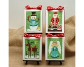 Christmas Cuties Four Cross Stitch Patterns Instant Download
