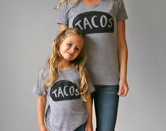 Mommy and me shirt set, Matching Taco Tuesday Tshirts, matching mommy daughter, twinning outfit gifts for mom funny gift Mother Daughter