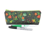 Pokemon Bulbasaur Pencil Pouch / Pokemon Accessory Zippered Pouch / Grass Type Long Bag