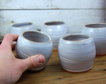 Stemless Wine Glass or Drinking Cup in Shale- Made to Order