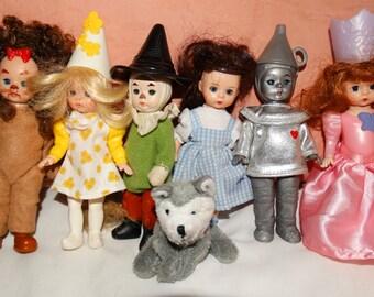 MADAME Alexander (7) McDonald's Happy Meal Toys, Wizard of Oz, Dorothy, Toto, Repurpose Upcycle, Glinda, Tin Man, Scarecrow, Cowardly Lion