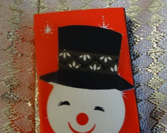 Vintage Snowman Matches, Unused, Fireplace Matches, 1967, Frosty the Snowman Matches