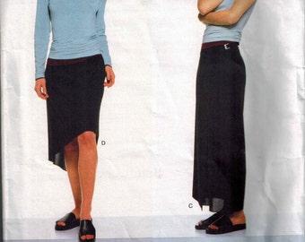 1997 Vogue 2011 Vogue American Designer Calvin Klein Top and Skirt Sewing Pattern Sizes 8-10-12 UNCUT Wrap Skirt